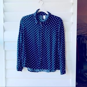 Polkadot Shirt with Collar